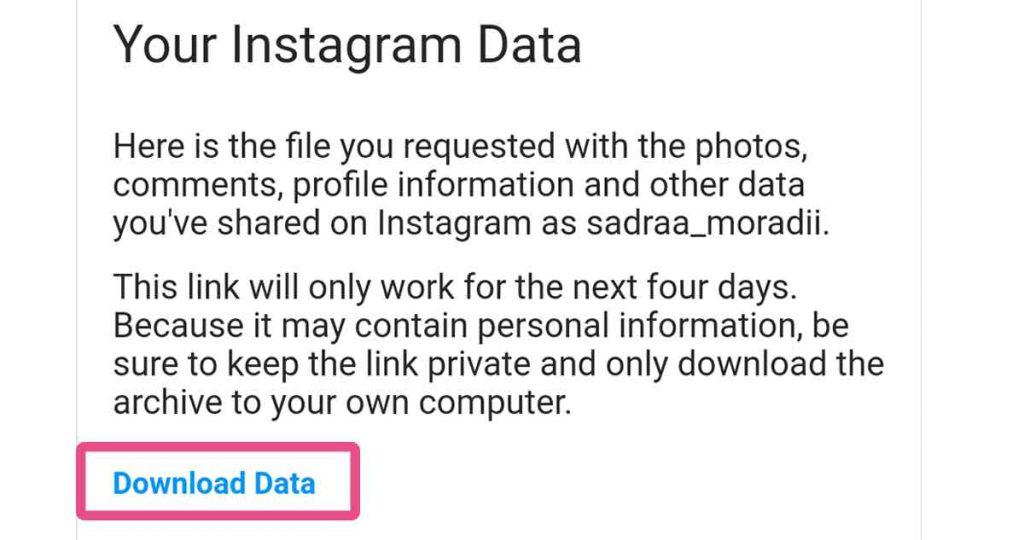 گزینه آبی رنگ download data
