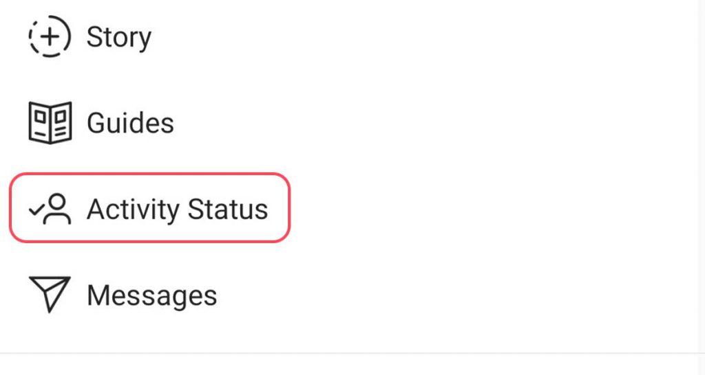 پنهان شدن وضعیت فعالیت در اینستاگرام (activity status)